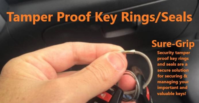 Sure-Grip Security Tamper Proof Key Rings