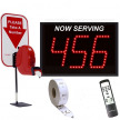 Next Please! (IR) 3 Digit Single Display Infrared Wireless Take a Number Packaged System